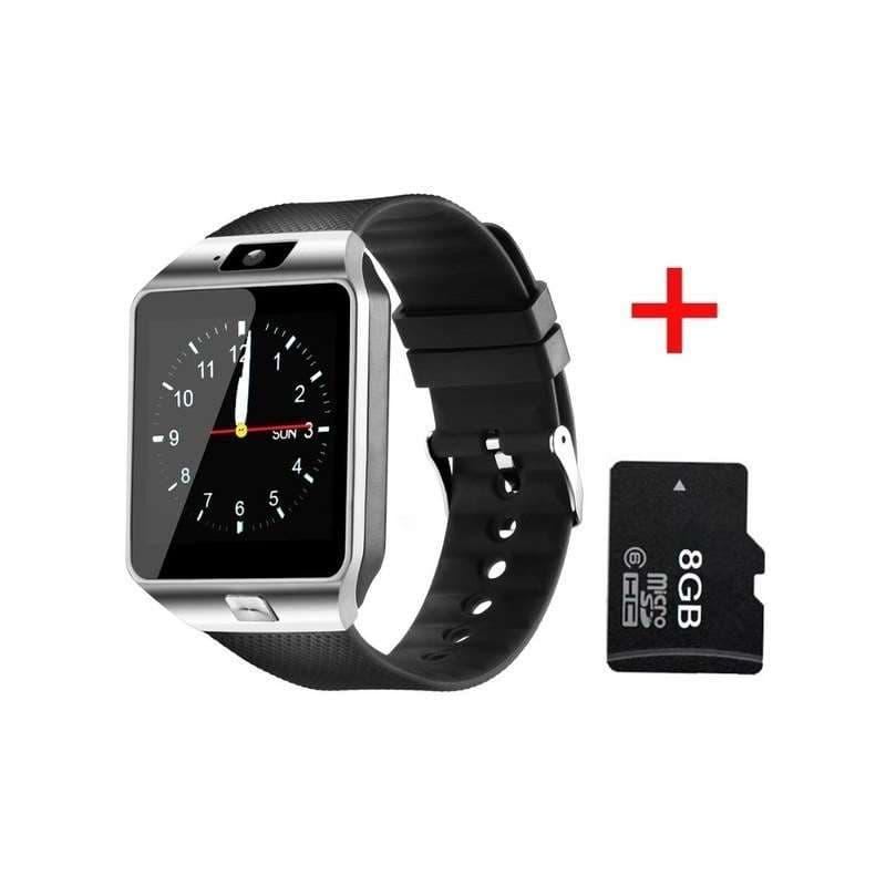 Smartwatch DZ09 watch SIM and TF card holder