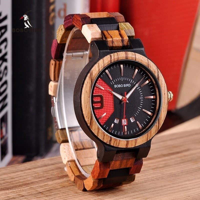 """CK00005683 275 mm /""""Carlin Visage/"""" Large en Bois Horloge"""