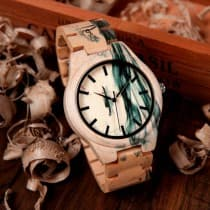 Custom design maple wood men's watch