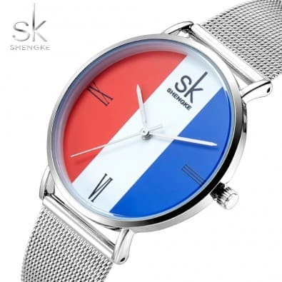 Tri-color quartz ladies watch
