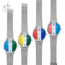 Tri-color quartz ladies watch