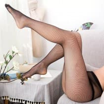 Black fishnet tights one size