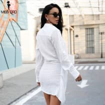 Sexy dress asymmetrical long sleeves