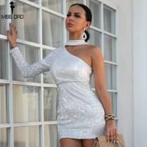 Silver straw dress bare shoulder