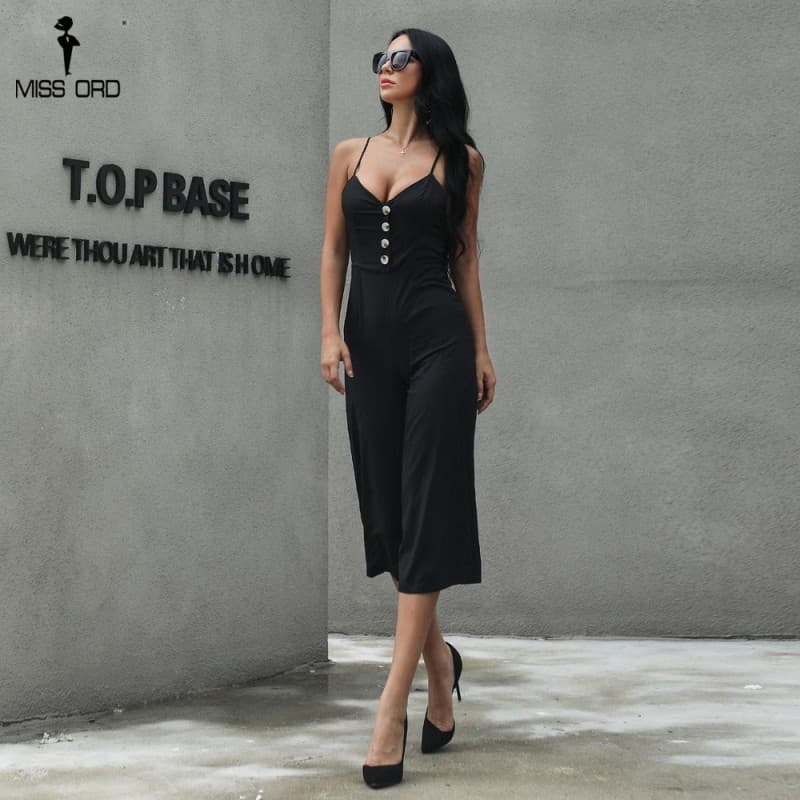 Pants jumpsuit backless Sleeveless