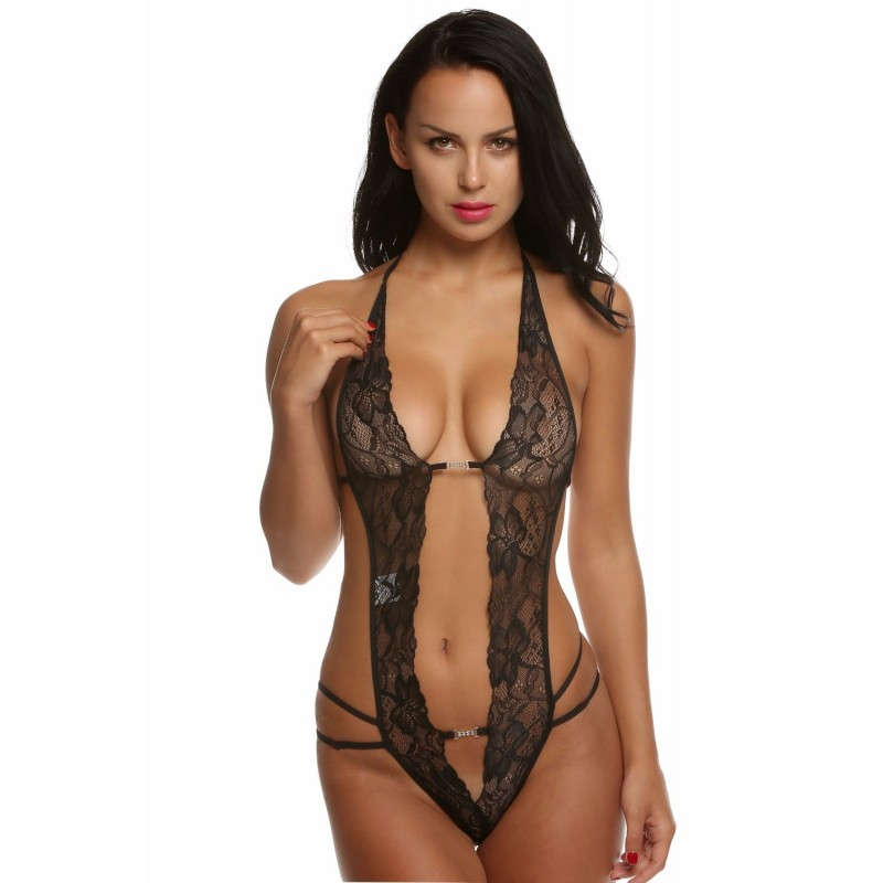 Body lace open backless thong