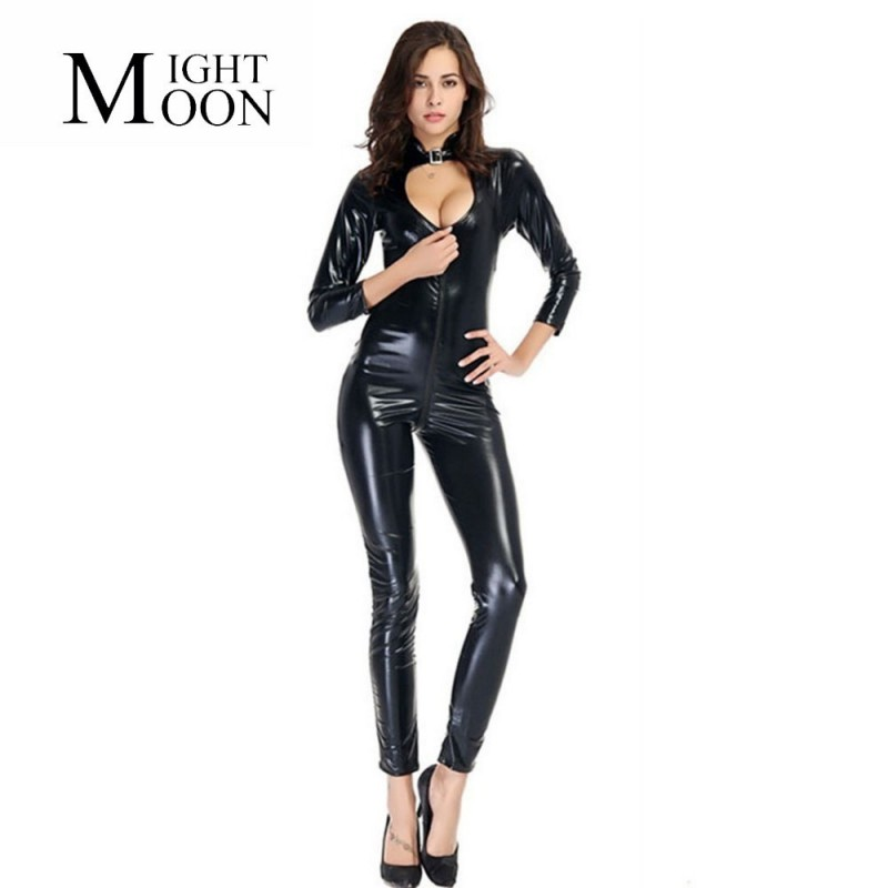 Full latex combination front zip