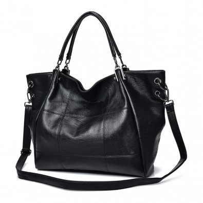 Large handbag with cuffs and shoulder strap